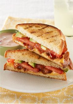 Barbecue-Style Grilled Cheese – Here's a bacon-tomato grilled cheese sandwich, BBQ style. The added deliciousness comes in the form of chunky salsa and rich, buttery avocado.