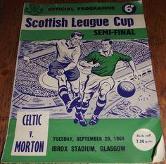 29th SEP 1964 CELTIC v MORTON SCOTTISH LEAGUE CUP SEMI FINAL PROGRAMME