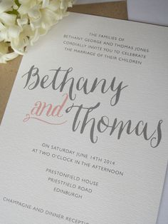 Printable Wedding Invitation  Bethany in Gray and by PrintedLoveCo, $20.00