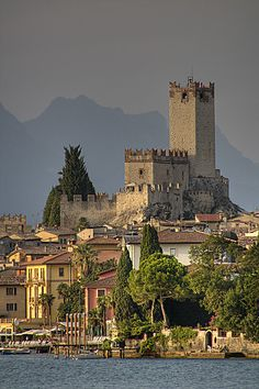 Scaligero castle, Malcesine, Lake Garda, Italy, location in the wonderful novel by Rumer Godden, Battle for the Villa Fiorita