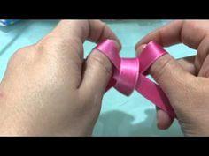 Tutorial: come realizzare fiocchi di nastro - YouTube