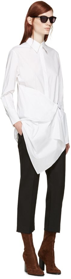 3.1 Phillip Lim White Parachute Skirt Poplin Shirt