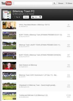 Billericay Town FC Youtube Playlist of goals, interviews and more from the video center of the web!