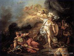 la Combat der Mars et Minerva Neoclassicisme Jacques Louis David