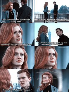 Some brothers just don't understand what a sis gotta do to save the downworld😑🤦🏼♀️ Cassandra Clare, Clary And Sebastian, Clary Und Jace, Shadowhunters Season 3, Shadowhunters The Mortal Instruments, Clace, Netflix, The Dark Artifices, City Of Bones