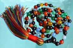 A personal favorite from my Etsy shop https://www.etsy.com/listing/289287611/chakra-mala-beads-necklace-9-planets # 108 chakra mala beads necklace # multicolored gemstone mala beads