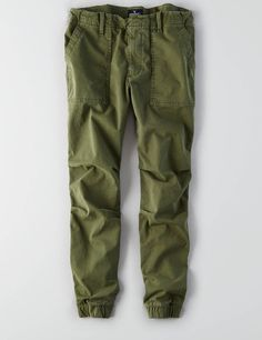 AEO Utility Jogger, Olive | American Eagle Outfitters