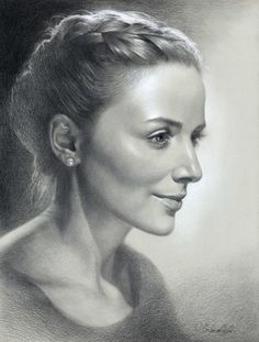 Portraits, sketches. Pencil, charcoal, sepia by Olga Sternyk