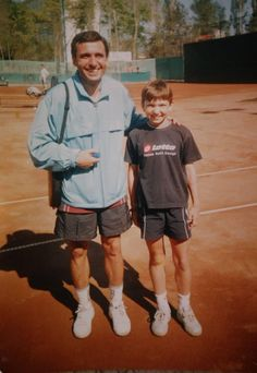 Young #tennis player #Simona #Halep Posted by @CalinValean on #Twitter