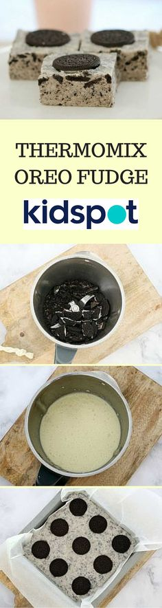 Want a super easy Thermomix treat? Try this cookies and cream fudge made with just 3 ingredients! (And one of them is Oreos - yum! Cookies And Cream Fudge, Oreo Biscuits, Oreo Fudge, Crushed Oreos, Melting Chocolate, 3 Ingredients, Food For Thought, Super Easy, Sweet Treats