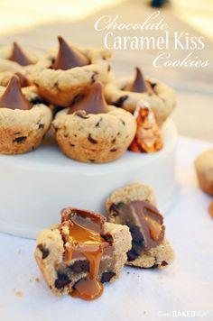 Chocolate Caramel Kiss Cookies