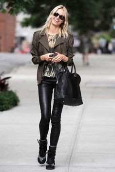 Love the leather leggings but rather than full leather, maybe just a leather strip down the side? tuxedo style?