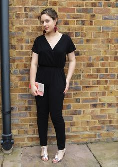 Look 3 of anna lucia says...'s #5lookschallenge featuring Oliana Jumpsuit and Colour Block Clutch