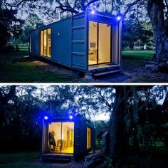 THE HAB TINY CONTAINER HOME | THE CASA CLUB Container Homes Cost, Shipping Container Home Designs, Building A Container Home, Container Buildings, Container Architecture, Container House Design, Tiny House Design, Shipping Containers, Cargo Container
