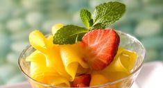 Salade de mangue aux fraises