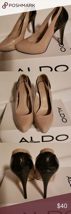 074846c468b Soles have Aldo outsole grips added to them. Heel height is Toe has wedge.  When I put size PM changes the size to I wear and they fit me.