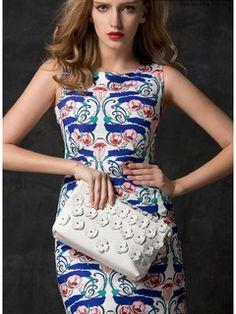 Floral Sleeveless Bodycon Dress #floral #bodycon #dress #beautifl #clothing