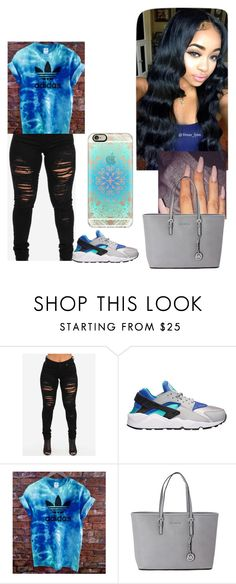"""Blue"" by shania2cute ❤ liked on Polyvore featuring NIKE, Michael Kors and Casetify"