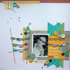 Remember Layout by Melanie Blackburn - Jillibean Soup