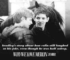 i feel as though by watching Merlin, ive made friends that will last me for life