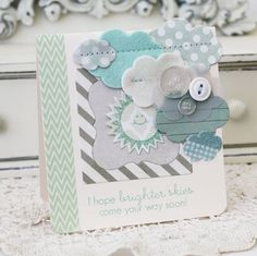 Brighter Skies Card by Melissa Phillips for Papertrey Ink (July 2012)