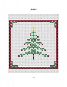 free cross stitch small Christmas patterns