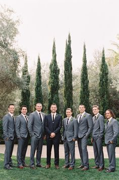 Natural makeup, neutral and pastel bridesmaid dresses and gray groom and groomsmen attire is what's in step for spring. wedding groomsmen attire Going Gray for the Groom and Groomsmen Grey Suit Wedding, Wedding Men, Wedding Groom, Dream Wedding, Trendy Wedding, Wedding Ideas, Fall Wedding, Charcoal Suit Wedding, Charcoal Gray Suit