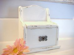 recipe box recipe holder recipe organizer kitchen decor shabby chic decor white recipe box vintage recipe box trinket box