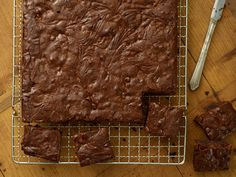 Peanut Swirl Brownies recipe from Ina Garten via Food Network