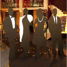 We Love the Theatre Silhouettes Kit (set of 4) Old Hollywood Prom
