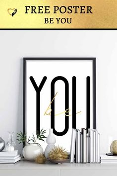JUST DO YOU! #Motivational #Inspirational #JustBe #Poster #Freebie #BLACK #GOLD