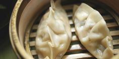 Vegetarian Steamed Dumplings recipe from Alton Brown via Food Network. let tofu soak up the moisture before filling. Vegetable Dumplings, Steamed Dumplings, Dumpling Recipe, Dumpling Sauce, Shrimp Dumplings, Vegetarian Dumplings Recipe, Vegan Dumplings, Chinese Dumplings, Vegetarian Cooking