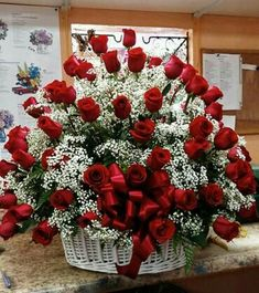 Flowers Discover Love in a Basket : Cape Coral FL Florist : Same Day Flower Delivery for any occasion Love in a Basket Valentine Flower Arrangements, Basket Flower Arrangements, Creative Flower Arrangements, Rose Arrangements, Valentines Flowers, Beautiful Flower Arrangements, Rose Flower Wallpaper, Happy Birthday Flower, Funeral Arrangements