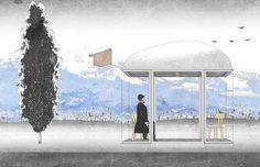 World Famous Architects Design Bus Stops for Tiny Austrian Village,Courtesy of Smiljan Radic / BUS:STOP Krumbach