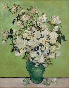Art of the Day: Van Gogh, Roses, May 1890. The Metropolitan Museum of Art, New York.