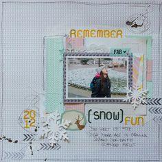 Snow fun 2012 by scrap2010 #scrapbooking
