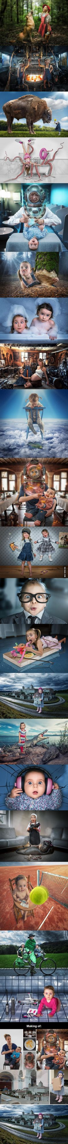 Creative Father Makes Crazy Photo Manipulations With His Three Daughters.