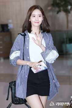 Snsd Fashion, Korean Fashion, Yoona Snsd, Korean Actresses, Korean Actors, Airport Style, Airport Fashion, Daily Look, Girls Generation