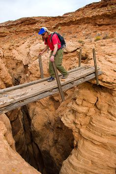 Old sheep bridge above Moonshine Canyon, Southern Utah