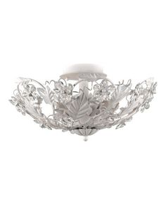 Take a look at this Antique White Abbie Collection Fixture by Crystorama on #zulily today!