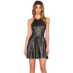 Parker Viking Dress Dresses ($528) ❤ liked on Polyvore featuring dresses, mesh cutout dress, cutout dress, mesh cut-out dress, striped dress and stripe dress