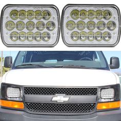 2PC 7x6 LED Cree Sealed Beam Headlight Crystal Clear for Chevrolet C2500 K2500 #TURBO