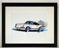 Porsche Carrera Gt Car Illustration - prints & art sale