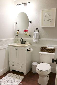 10+ Beautiful Half Bathroom Ideas for Your Home #half+bathroom #bathrooms