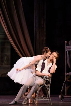 Lauren Cuthbertson as the Young Woman and Vadim Muntagirov as the Young Man in Frederick Ashton's The Two Pigeons, The Royal Ballet © 2015 ROH. Photograph by Bill Cooper.