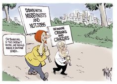 Cranks and Crazies, Paul Zanetti, pickeringpost.com | Political Cartoons Australia