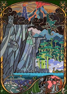 Lord of the Rings stained glass window