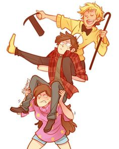 One of those draw the squad memes I couldn't resist doing lol. #gravityfalls #billcipher #dipperpines #mabelpines