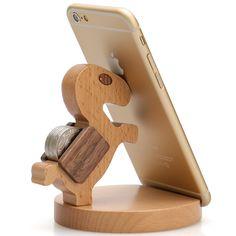 Support de téléphone portable cadeau d'anniversaire en bois cheval cellulaire porte photo
