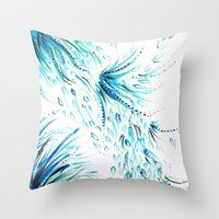 Throw Pillow featuring Got The Blues by StephsPrettyLilPage